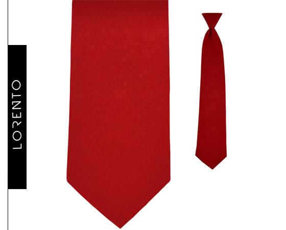 Krawat chłopięcy czerwony SLIM