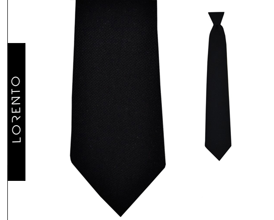 Tie boyish black SLIM