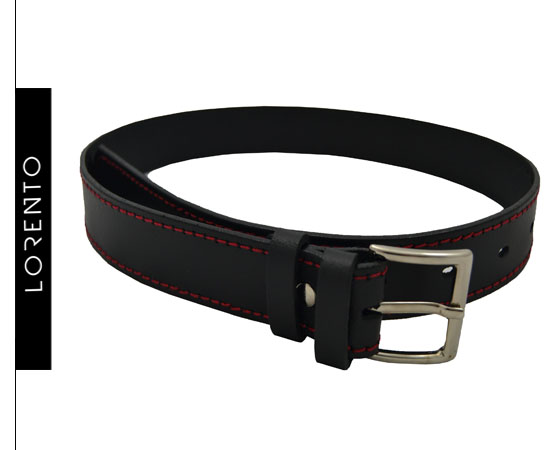 Strap black with red stitching