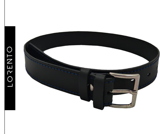 Strap black with blue stitching